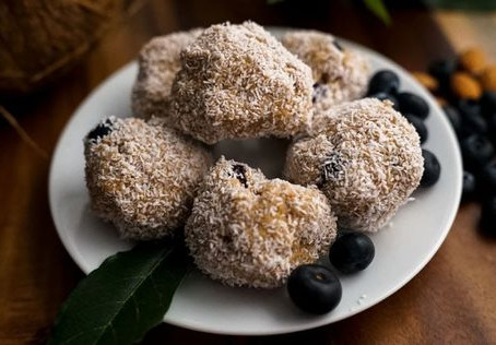 Blueberry Coconut Keto Fat Bombs