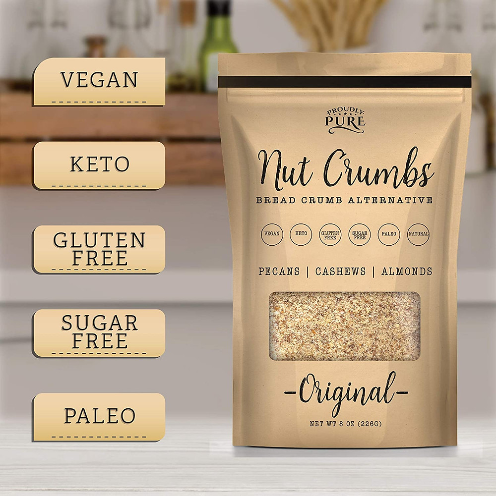 Keto Friendly Bread Crumb Alternative for ketogenic desserts and keto friendly appetizers and ketogenic breakfast recipes
