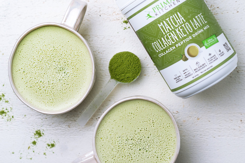 Ketogenic recipes with collagen and matcha by Primal Kitchen