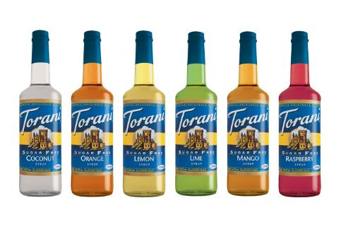 Keto Friendly tropical beverages sugar free diabetic friendly syrups by Torani