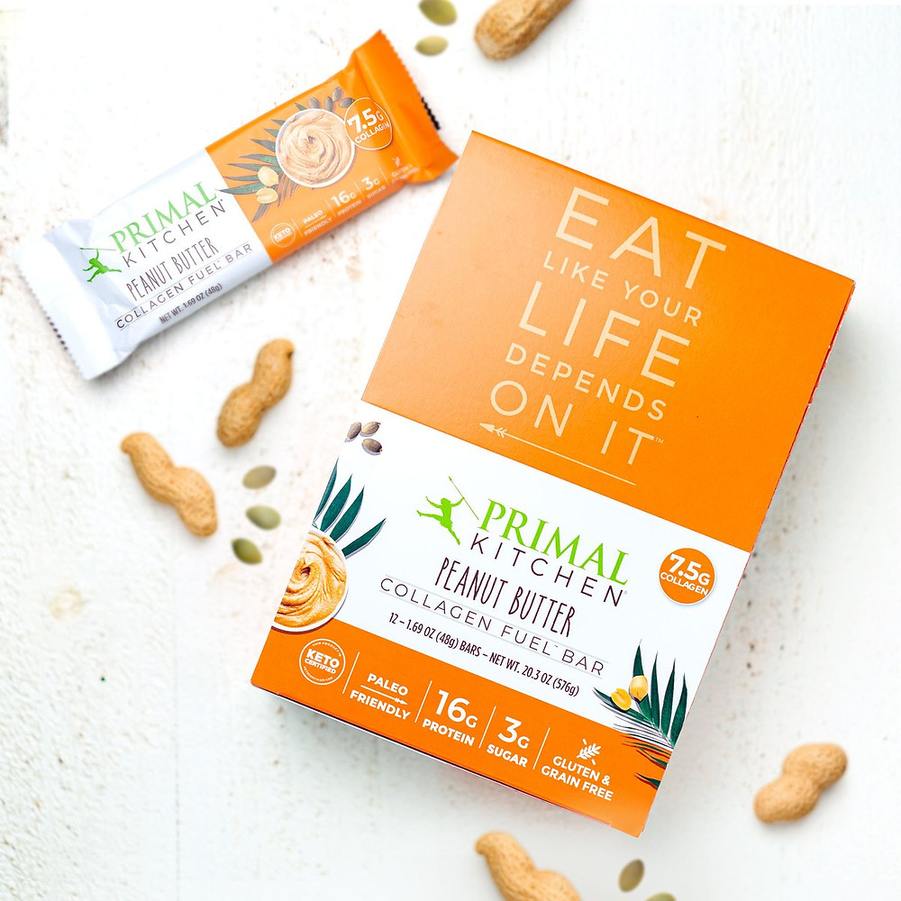 Collagen protein snack bars keto paleo gluten free Primal Kitchen recommended by Healthy Life Selections