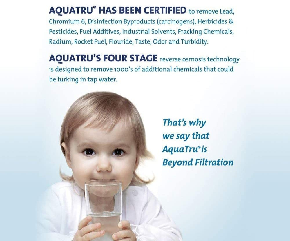 Clean safe drinking water from AquaTru Keep Your Body Healthy