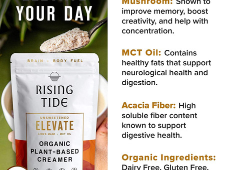 Keto Mushroom & MCT Coffee Creamer Super Food By Rising Tide