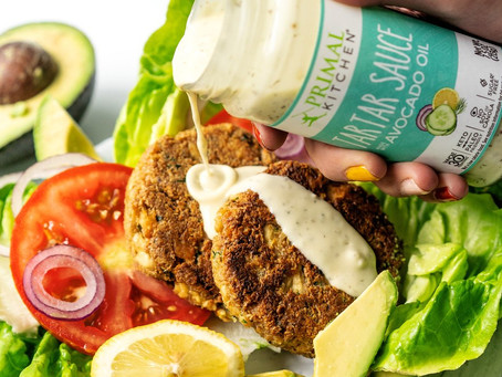 Keto Salmon Burgers with Tartar Sauce