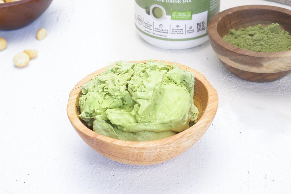 Matcha Ice Cream dairy free vegan