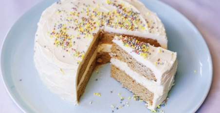INSTANT POT KETO BIRTHDAY CAKE WITH VANILLA BUTTERCREAM FROSTING