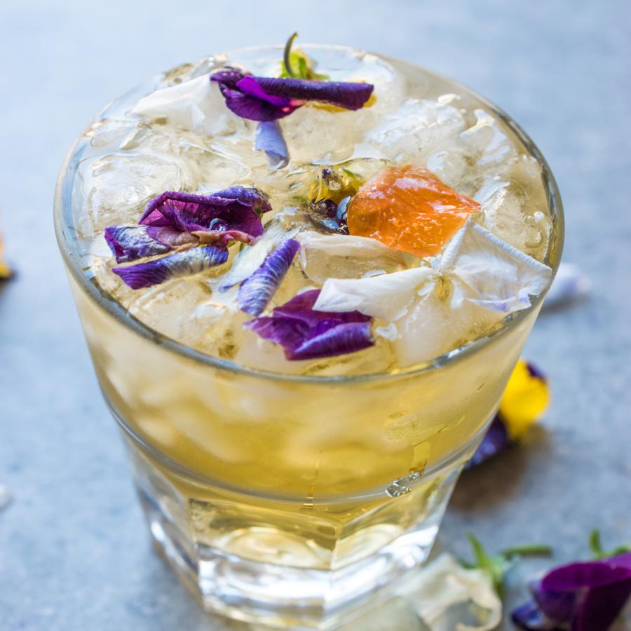 Keto Friendly Beverages skinny blueberry lavender and lemon elderflower iced tea keto recipe