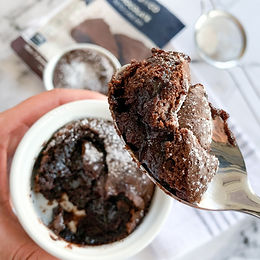 Easy 6-Minute Air Fryer Keto Lava Cake