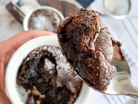 Easy 6-Minute Air Fryer Keto Lava Cake