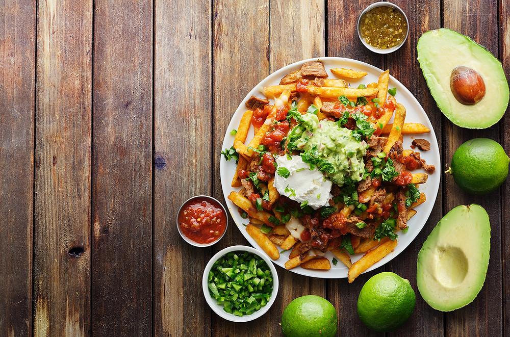 Mexican fries with guacamole using air flyer avocado recipes health yummy tasty fun