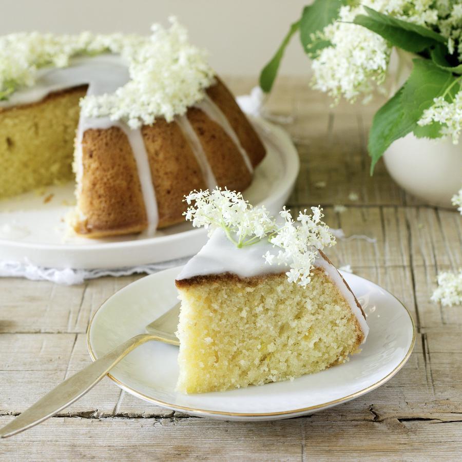 Keto Friendly Frosting Dessert For Ketogenic Diet lemon Elderflower recipe using Sugar Free Jordan's Skinny Syrup