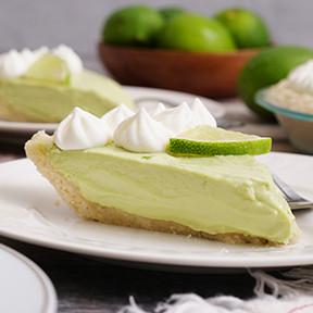 Keto key lime pie ketogenic dessert recipes by In The Raw Monk Fruit Sweetener