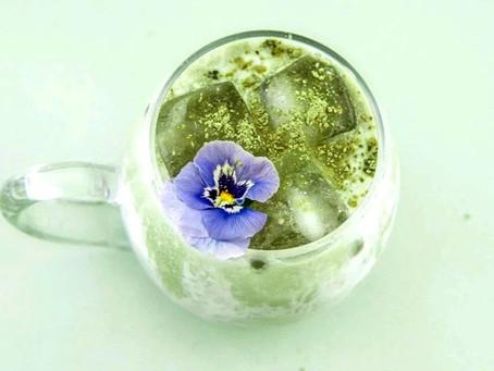 Iced Matcha Green Tea Latte - Vegan + Keto