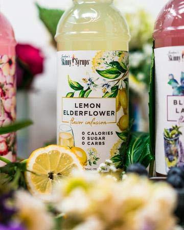 Keto Desserts & Baking Ketogenic beverages Skinny Syrup Jordan's Elderflower with Lemon