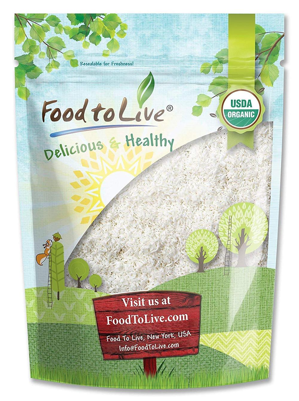 Organic dessicated Coconut keto friendly protein iron fiber & zinc