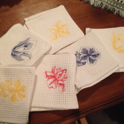 customized embroidery dish clothes