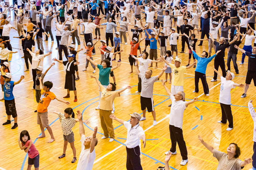 TUNE IN AND WORK OUT / 'RAJIO  TAISO' in Japan
