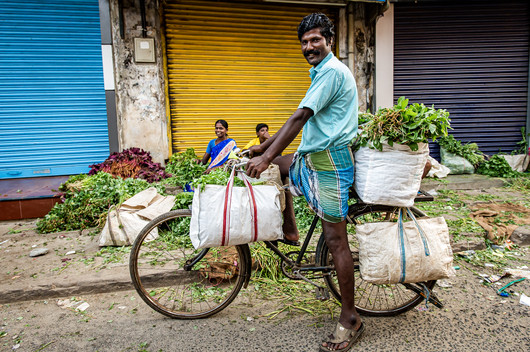 Veggie buyers come by bike