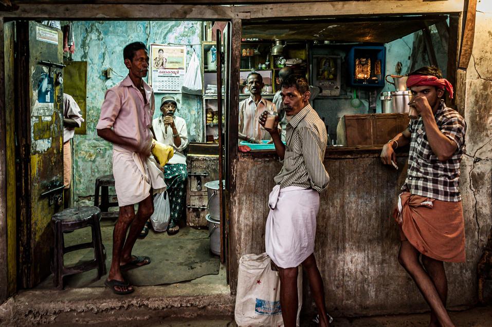 Tea salon in the market