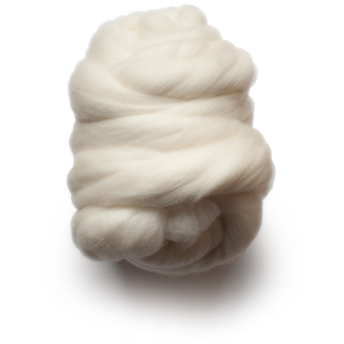 Natural Combed Wool Top - 100% Australian Grown and Processed