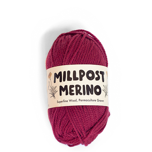 Millpost Red - Superfine Merino Ball