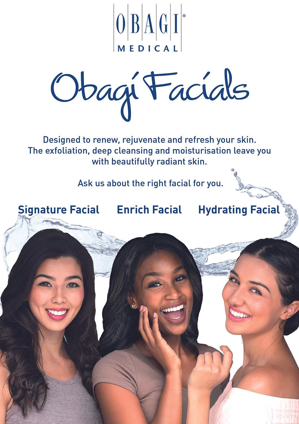 Obagi Facial Kit Counter Card or Poster.