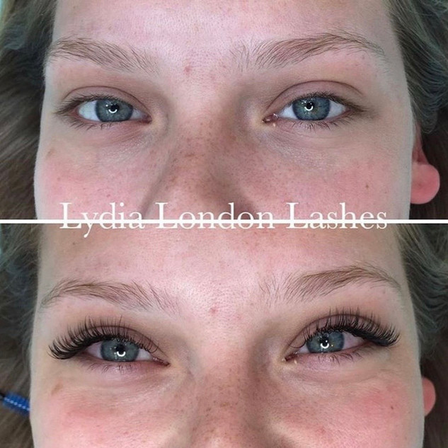 BEFORE AND AFTER INDIVIDUAL LASHES