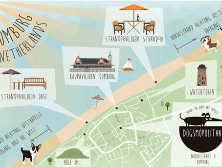 Karte Hundestrände in Domburg