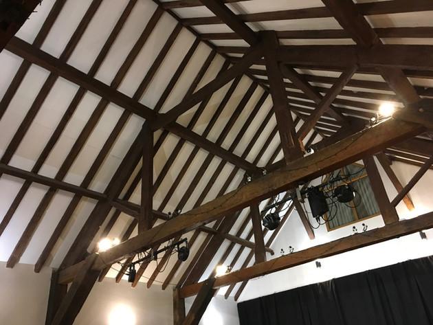 The HopBarn main studio ceiling