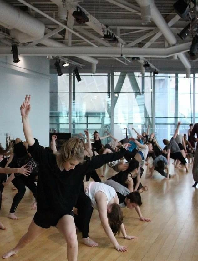 Centre for Advanced Training at The Lowry, students in rehearsal