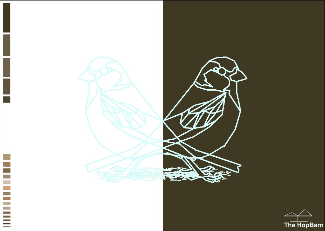 House sparrow postcard