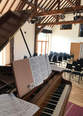 The HopBarn view from the piano