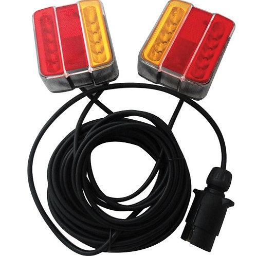 LED Magnetic Trailer Tail Light Set (12Metre Cable)