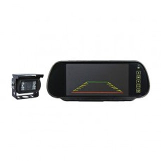 "7"" Mirror Monitor Rear Cam Kit (2 camera inputs , inc. 1 x Sony CCD camera)"