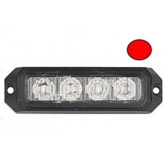 4 LED ECE R65 Grille Red Warning Strobe