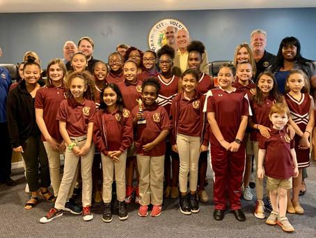 Dance Team Receives Mayor's Award