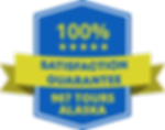 907 Tours satisfaction guarantee badge