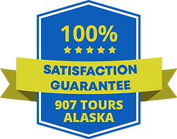 907 Tours satisfaction guarantee badge