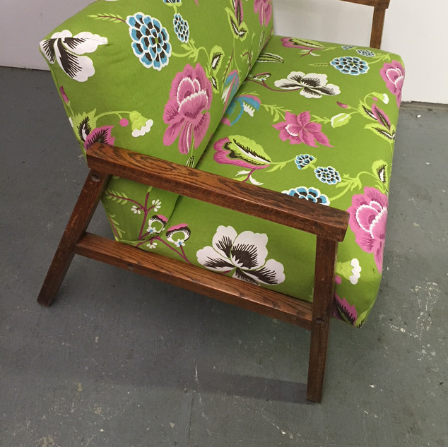1960 loveseat in floral print