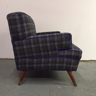 1958 arm chair in Pendleton wool