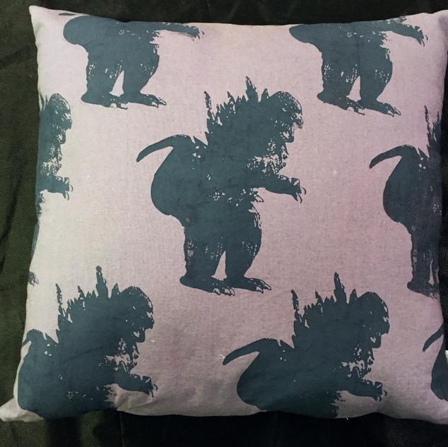 Godzilla pillow