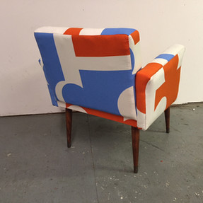 Puzzle print chair