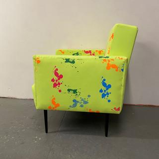 Neon Splatter Chair
