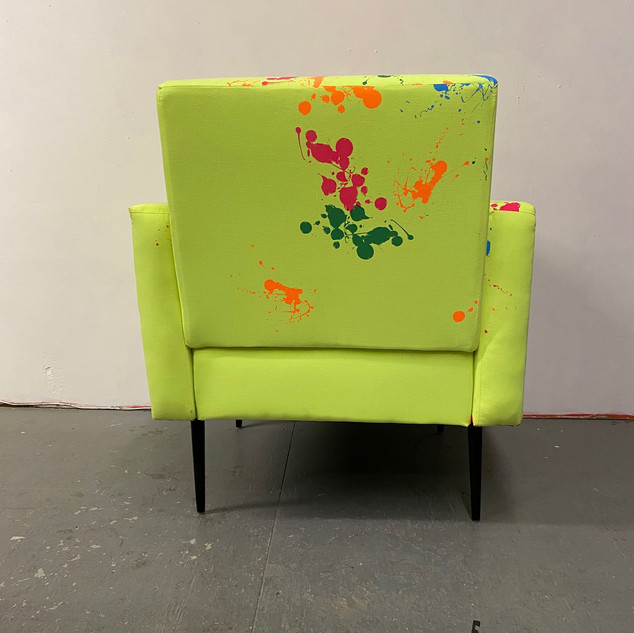 Neon Splatter Chair