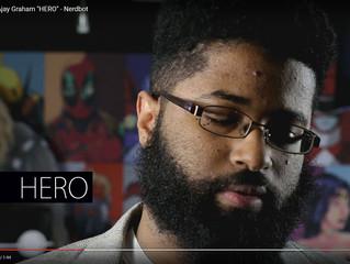 """Nerd Poetry with Ajay Graham """"HERO"""" - Nerdbot"""
