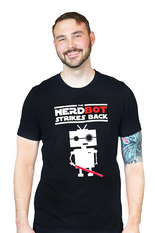 Men's Original Nerdbot Strikes Back Shirt - Logo
