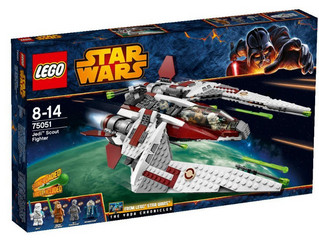 LEGO Review - Star Wars 75051 Jedi Scout Fighter Build