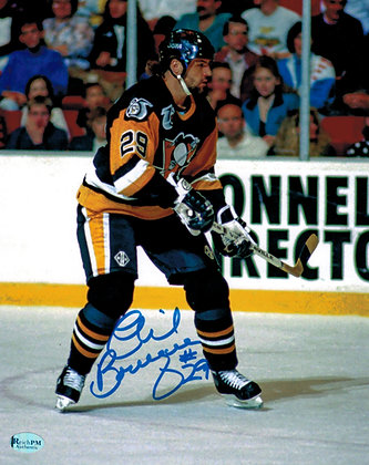 Phil Bourque Autographed 8x10 Photo - 1992 Season