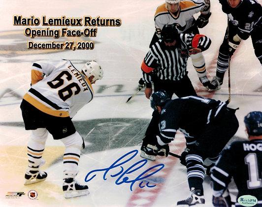 Mario Lemieux Autographed 8x10 Photo - 2000 Return
