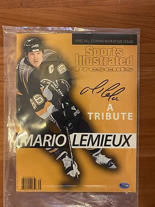 Mario Lemieux signed SI Tribute